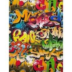 Canvas Stoff Dekostoff Baumwollstoff Retro Graffiti Art ab 50 cm
