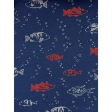 Sweat French Terry Sommer Stoff maritim Fische Breite 155 cm