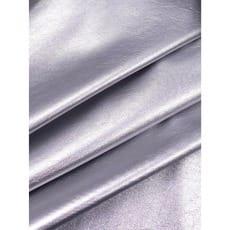 Leder Imitat Stoff Kunstleder Lack silber ab 50 cm