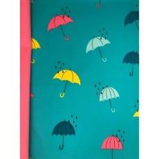 Softshell Kinderstoff Regenstoff Regenschirm petrol ab 50 cm