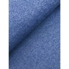Bündchenstoff Schlauch Meterware uni meliert ab 50cm jeansblau