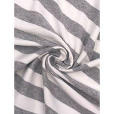 Viskose Jersey Streifen Stoff 2cmx2cm grau meliert Breite 160cm