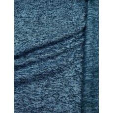 Strickstoff Strickfleece Stoff Fleece meliert blau ab 50cm