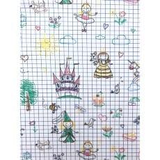 Jersey Stoff Kinderstoff Skizze Breite 150cm ab 50cm