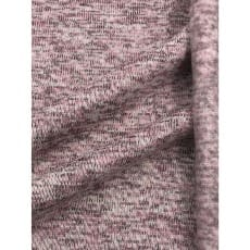 Strickstoff Strickfleece Stoff meliert rosa