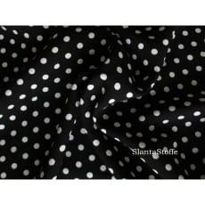 Viskose Jersey , Punkte, schwarz, weiß