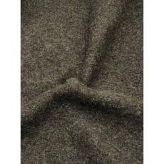 Walkstoff Boiled Wool Gekochter Wolle dunkelolive meliert Breite 140 cm