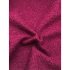 Walkstoff Boiled Wool Gekochter Wolle weinrot Breite 140 cm