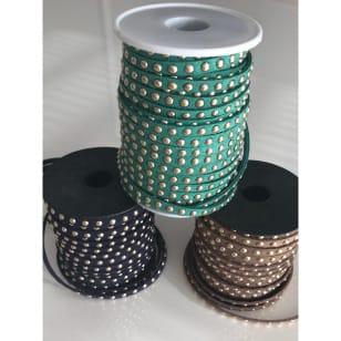 Wildlederband mit Nieten, 5mm kaufen