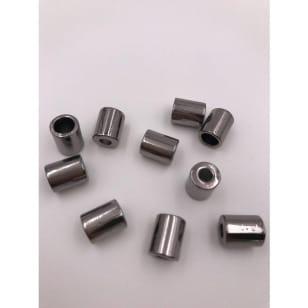 Kordelenden Silber / Grafit Metall zylindrisch kaufen