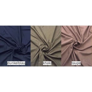 Viskose Jersey khaki, taupe, dunkelblau kaufen
