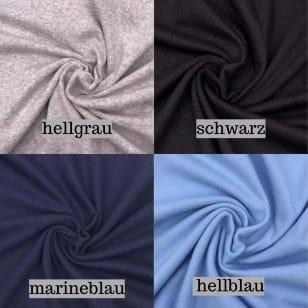 Bündchen hellblau, marineblau, hellgrau, schwarz, nicht gerippt XXL-Superbreite kaufen