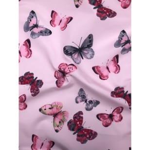Outdoor Jackenstoff Regenjacke Schmetterling rosa kaufen