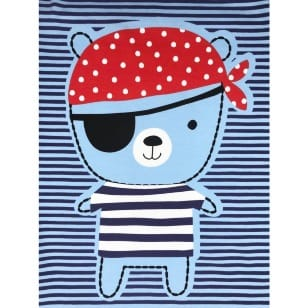 Panel Jersey Stoff Kinderstoff Piraten Anker hellblau 1,4m x 0,85m kaufen