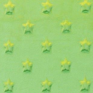 Minky Fleece Sterne Microfleece Stoff Breite 165 cm grün kaufen