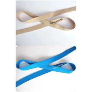 Gummiband, Gummilitze, blau, beige, 30mm kaufen