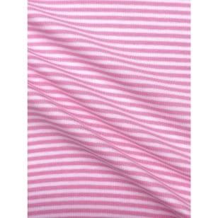 Bündchenstoff Schlauch Meterware Streifen rosa kaufen