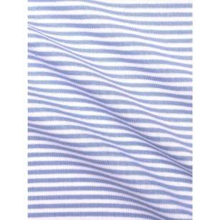 Bündchenstoff Schlauch Meterware Streifen hellblau kaufen