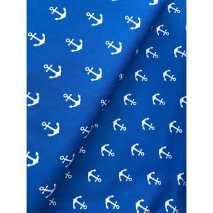 Baumwollstoff Anker, royalblau, Breite 145 cm kaufen