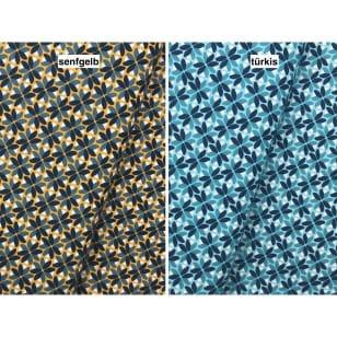 Baumwollstoff Dekostoff Stoff Blumen 2 Farben kaufen