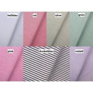 Baumwollstoff Dekostoff Streifen 3mm 7 Farben kaufen
