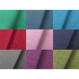 Baumwollstoff Dekostoff Tupfen Punkte 1,5mm 9 Farben kaufen