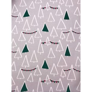 Baumwollstoff Kinderstoff Tannenbaum Weihnachten Grün Breite 160cm kaufen