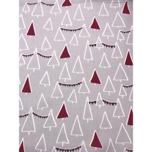 Baumwollstoff Kinderstoff Tannenbaum Weihnachten Rot Breite 160cm kaufen