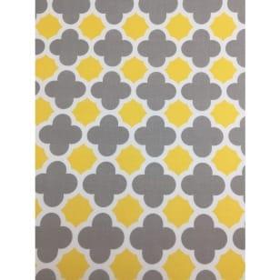 Baumwollstoff Riley Blake, gelb, grau, weiß kaufen