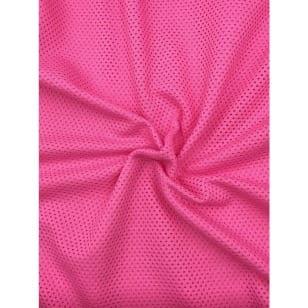 Baumwollstoff Sommerstoff kleine Löcher rosa kaufen