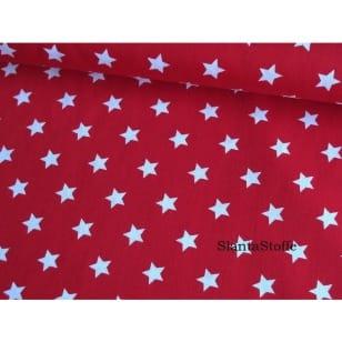 Baumwollstoff Sterne 1,5cm, rot kaufen