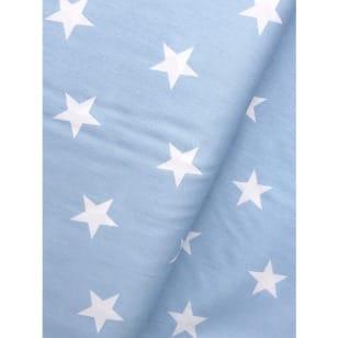 Baumwollstoff Sterne, baby blue, 3cm, Baumwolle 100% kaufen