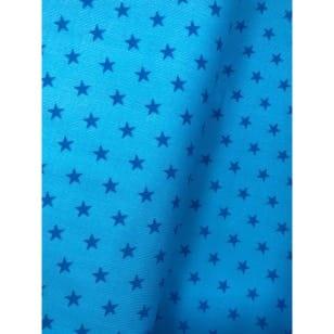Cord Sterne Feincord Stoff türkis Breite 145 cm ab 50 cm kaufen