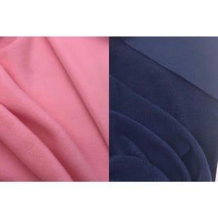 Fleece Antipilling uni dunkelblau, rosa kaufen