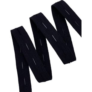 Gummiband mit Loch, Gummilitze, schwarz, weiß 16 mm kaufen