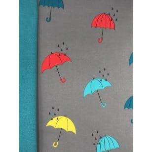 Softshell Kinderstoff Regenstoff Regenschirm grau kaufen