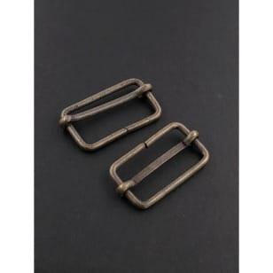 Metallschieber für 30mm Band messing kaufen