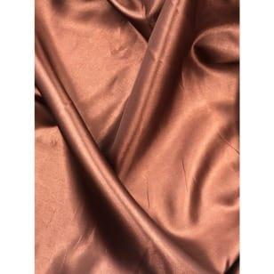 Futterstoff Polyester Satin mittelbraun ab 1m kaufen