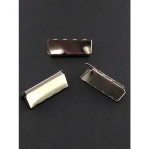 Gurtband Endstück, Gurtbandende 25 mm silber kaufen