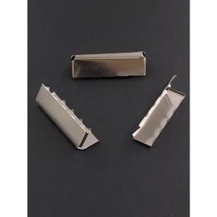 Gurtband Endstück, Gurtbandende 30mm silber kaufen