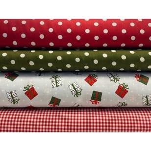 Stoffpaket Stoffset Baumwolle Weihnachten Geschenk kaufen