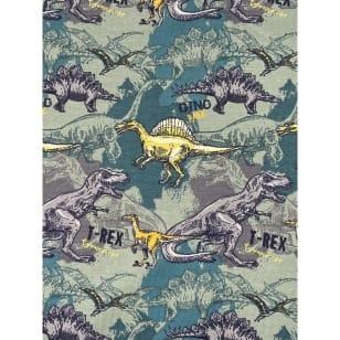 Jersey Stoff Kinderstoff Dinos ab 50 cm kaufen