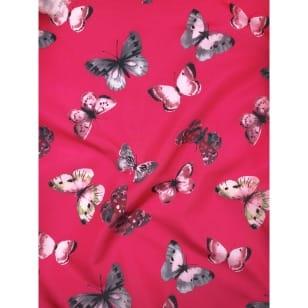 Outdoor Jackenstoff Regenjacke Schmetterling pink kaufen