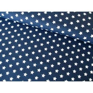 Baumwollstoff Popeline, dunkelblau, Sterne 1cm, Baumwolle 100% kaufen