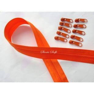 Endlos Reißverschluss orange, Set 2m + 10 Zipper kaufen
