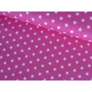Baumwollstoff Popeline, pink, Sterne 1cm, Baumwolle 100% kaufen
