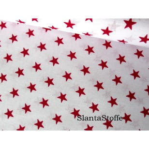 Stoff Sterne, 1cm, bordeaux, 100% Baumwolle kaufen