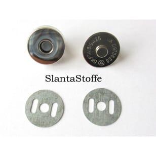 Magnetknopf 18mm, Magnetverschluss silber kaufen