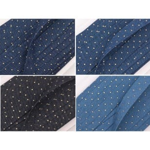 Jeansband, Borte, Breite 20mm, schwarz, dunkelblau, blau, hellblau kaufen