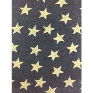 Jeansstoff, blau, gelbe Sterne kaufen